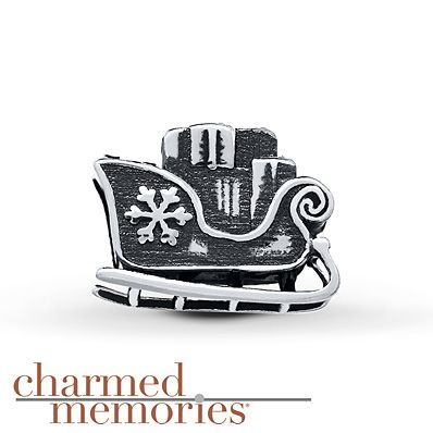 Charmed Memories Sleigh Charm Sterling Silver