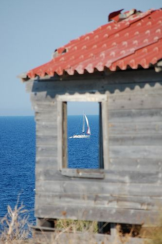 Sailing along the shore