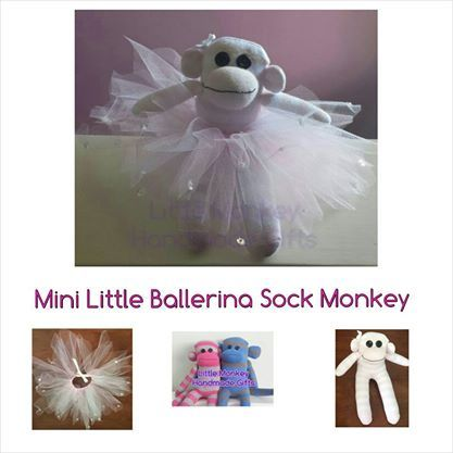 'Nicola' Mini Little Ballerina Sock Monkey Anything Goes Market Night opens at 9pm, on Tuesday 20th May, 2014