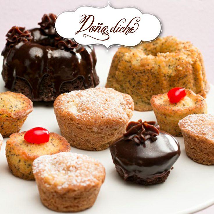 Muffins chocolate,amapola, y manzana.