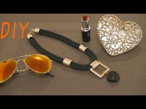 Haz un Elegante collar con cordón negro DIY