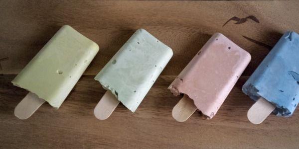 Leuke zomerse traktatie, een zelfgemaakt stoepkrijtje in de vorm van een ijsje! (+uitgebreide foto werkbeschrijving)