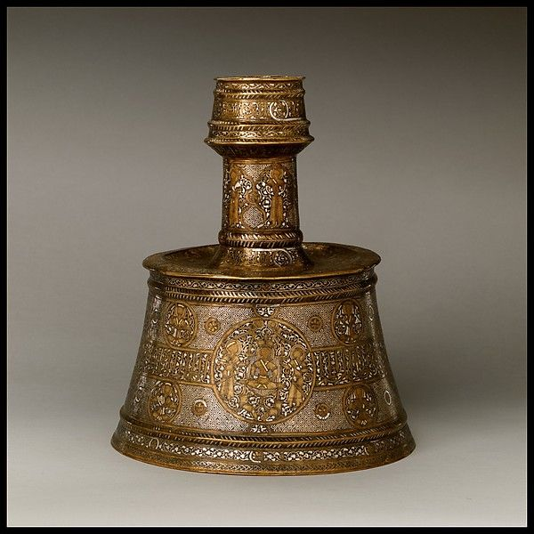 Candlestick, late 13th–first half 14th century, Western Iran, Northern Iraq or Northern Syria