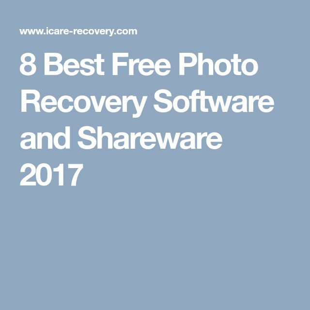 8 Best Free Photo Recovery Software and Shareware 2017