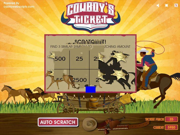 Buy Arcade Scratch Game for Online Casino - Cowboy Ticket Arcade scratch