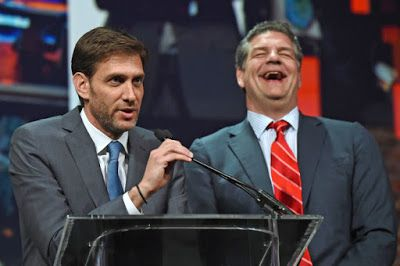 Mike Greenberg and Mike Golic say goodbye