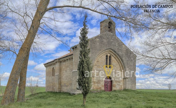 Población de Campos, Palencia. Ermita de San Miguel. Estilo románico de transición