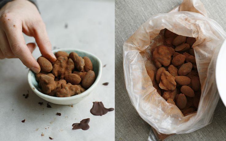Cinnamon and Chocolate Covered Nuts