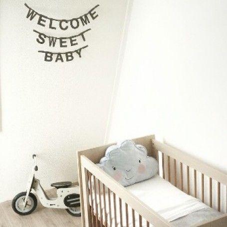Jut en Juul Lifestyle for Kids : Wordbanner - Letterslinger  - karton zwart