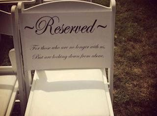 Reserved Wedding Seat Decal. Wedding Ceremony Reserved Seat sign. Reserved Seat sign. Custom Wedding Decals. Custom Reserved seating sign