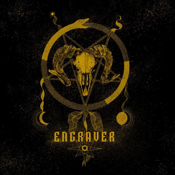 """Popatrz na mój projekt w @Behance: """"Engraver - stoner rock band logo"""" https://www.behance.net/gallery/47660751/Engraver-stoner-rock-band-logo"""