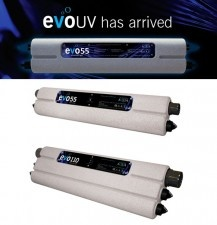 Evolution Aqua UV Systems 55/110 Watt  The Evo UV has a multifunction LED feature that will keep you informed as to the operating state of your evoUV, and the life of your bulb. The usable life of Evolution Aqua's UV bulbs is 9000 hours. The memory chip is set to remind you that the bulb has passed 8000 hours, at which point you should think about replacing the bulb.   http://www.koidepot.com/Evolution-Aqua-UV-Systems/Evolution-Aqua-UV-Systems-p-794.html
