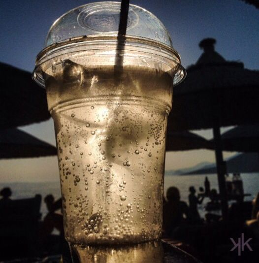 Hot day ...cold drinks Psatha, Greece