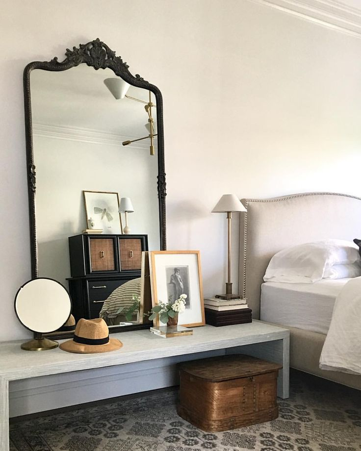"Eclectic bedroom design by Alison Giese Interiors (@alison_giese) on Instagram: ""This bedroom has come a long way from its builder basic roots. We had a low profile nightstand…"""
