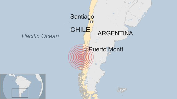 An earthquake with a preliminary magnitude of 7.7 off southern Chile has prompted a tsunami warning. It struck 225km (140 miles) south-west of Puerto Montt in southern Chile, the United States Geological Survey (USGS) said. The quake's depth was about 15km (10 miles). Chile's national emergency office has issued an alert and ordered the evacuation of coastal areas of Los Lagos region.