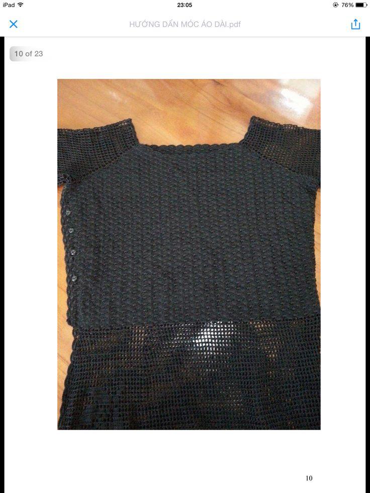 Hướng dẫn móc áo dài (tr10)