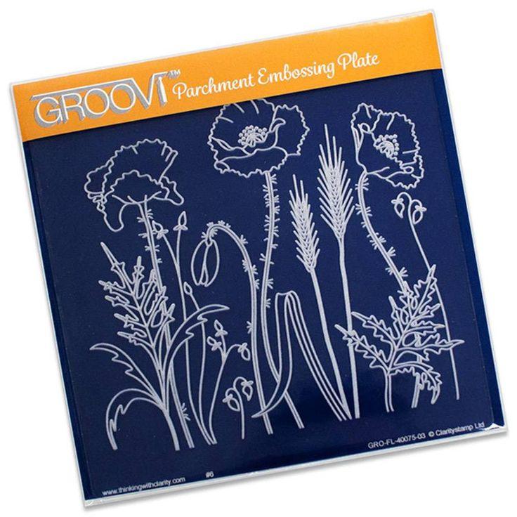 GROOVI PLATE - POPPY FIELD