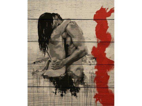 Картина по номерам по дереву «Слияние» Николь Румелиоти, раскраска по номерам
