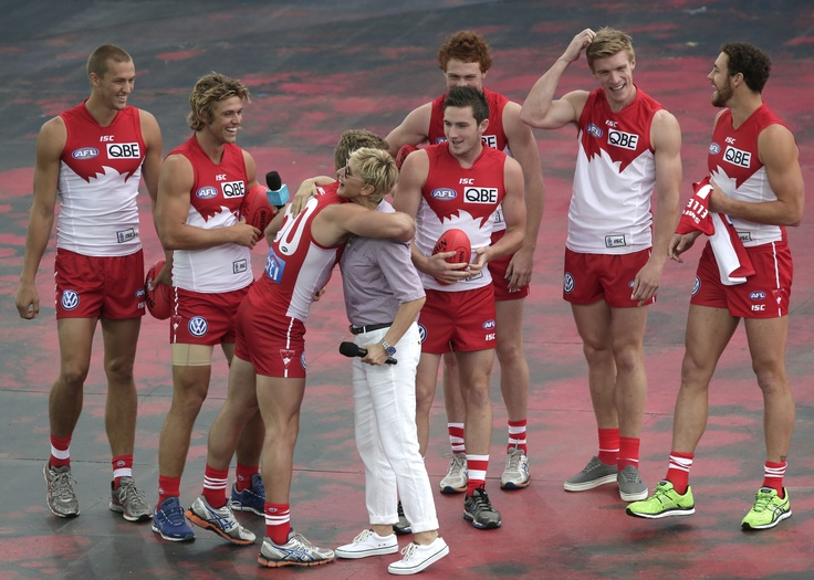 Ellen with the Sydney Swans