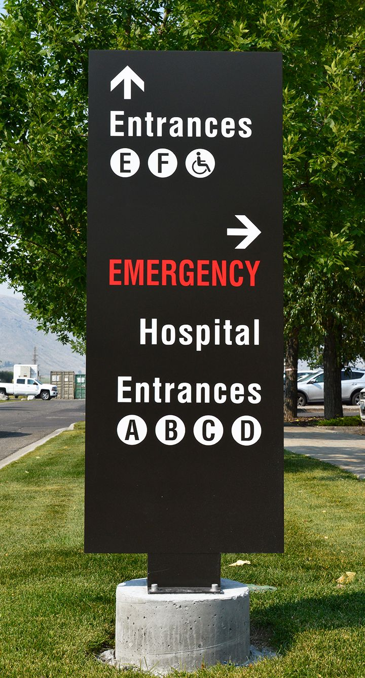 Signify Parking Lot Directional Sign done for St. John's Medical Center in Jackson Wyoming.