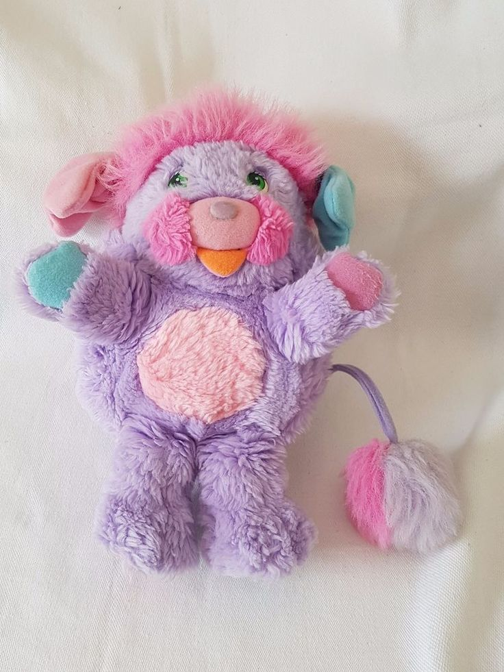 Peluche POPPLES Pretty bit  vintage retro 80's