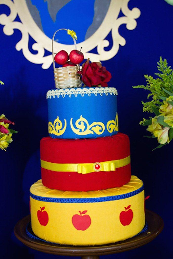 Snow Birthday Cake