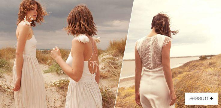 Sessùn Oui présente sa nouvelle collection mariage, des robes qui séduisent par leur apparente simplicité, une allure romantique et bohème...