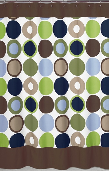 Best Shower Curtains Images On Pinterest Bathroom Ideas - Blue and brown shower curtain fabric