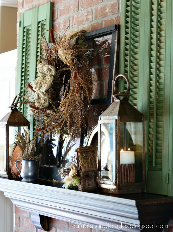 decorating with shutters inside - Google Search...like the shutters and lanterns, well almost all of it