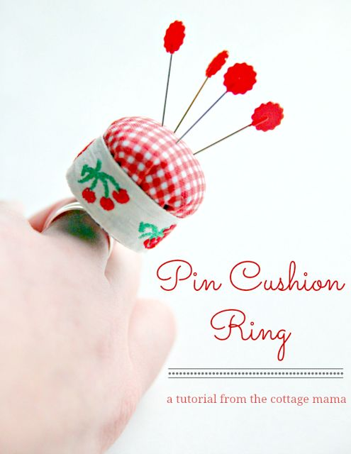 Pin Cushion Ring Tutorial - The Cottage Mama