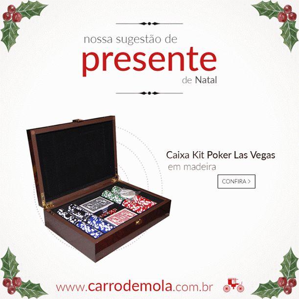 Que tal uma peça diferenciada para presentear aquele amigo especial neste Natal? A Caixa Kit Poker Las Vegas é uma ótima opção! Estilo, qualidade e bom gosto em uma só peça!  http://carrodemo.la/8764e #presentesdenatal #natal #fimdeano #ótimasopçõesdepresentes #jogos #poker #lasvegas #estilo #personalidade #qualidade #decoração #presentes #carrodemola