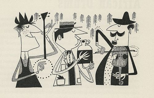 """I just picked up a vintage copy of """"The First Book of Jazz"""" by Langston Hughes (1955). The illustrations by Cliff Roberts are incredible. The style reminds me of one of my favorite jazz…"""