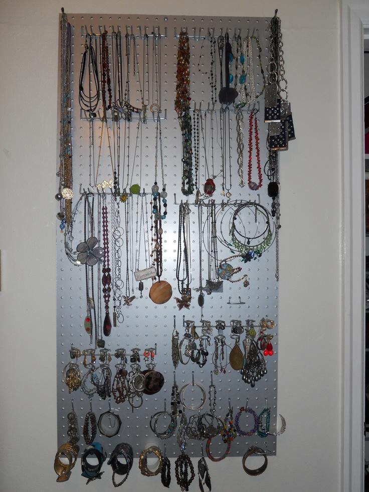 Jewelry Wall - wall behind door