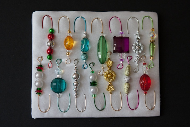 Christmas Tree Ornament Hooks Free Shipping : Best images about crafts beads on red