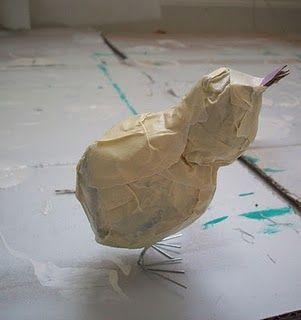 Paper Mache Bird Tutorial - bleibt der auch stehen?
