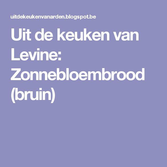 Uit de keuken van Levine: Zonnebloembrood (bruin)