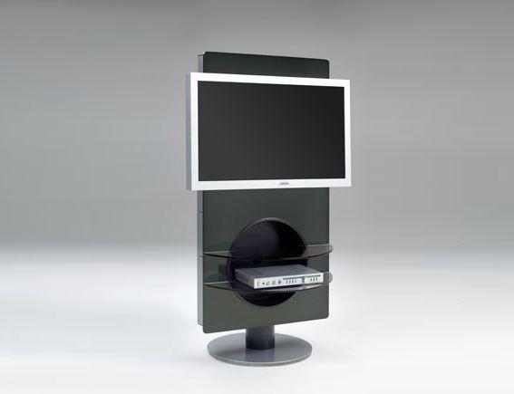 Mobile porta TV moderno / girevole / in vetro - JAZZ by Fabio Rebosio - eXdè