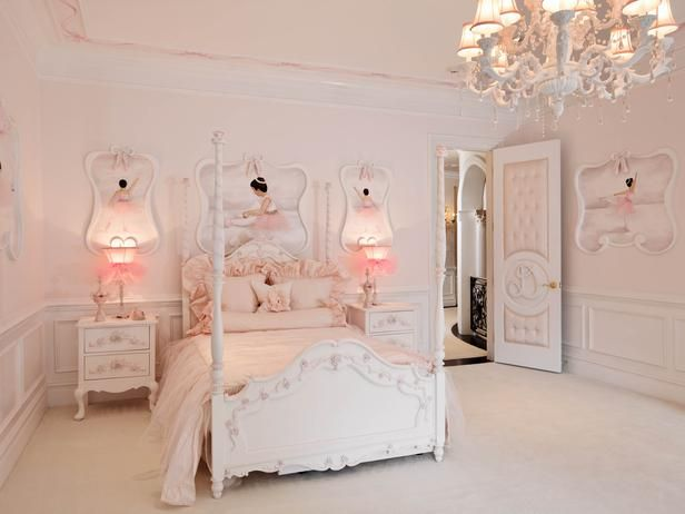 A little ballerina's dream bedroom.