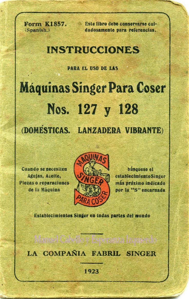 Instrucciones para la Máquina de Coser Singer (antigua)