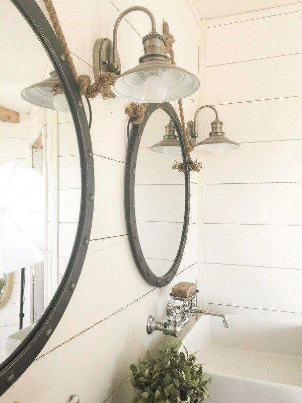 best 25+ farmhouse bathroom mirrors ideas on pinterest | farmhouse