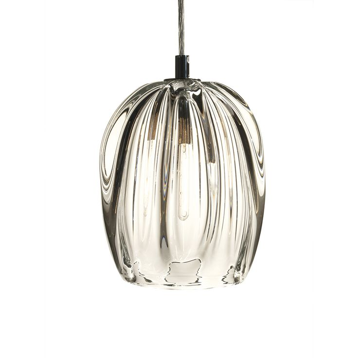Thick Clear Barnacle Barrel Pendant by Siemon