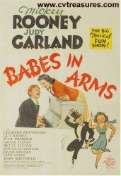 Babes in Arms vintage Movie Poster Mickey Rooney Judy Garland  http://www.cvtreasures.com/vintage-movie-posters-for-sale-classic-movie-posters-for-sale-c-66_74/babes-in-arms-vintage-movie-poster-mickey-rooney-judy-garland-p-3003