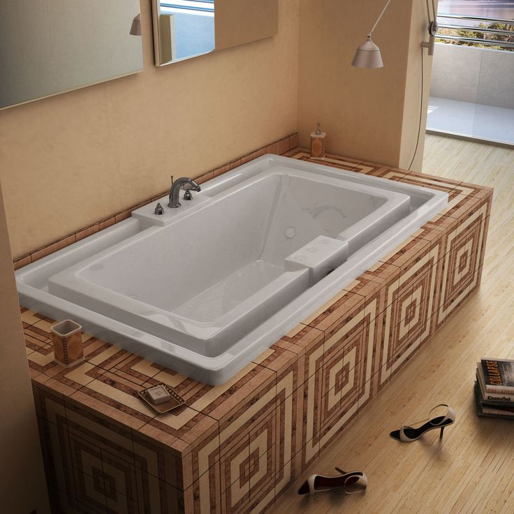 Venzi VZ4678IDL Celio 46 x 78 Endless Flow Air   Whirlpool Jetted Bathtub  with Center Drain. Best 25  Jetted bathtub ideas on Pinterest   2 person bathtub  Two