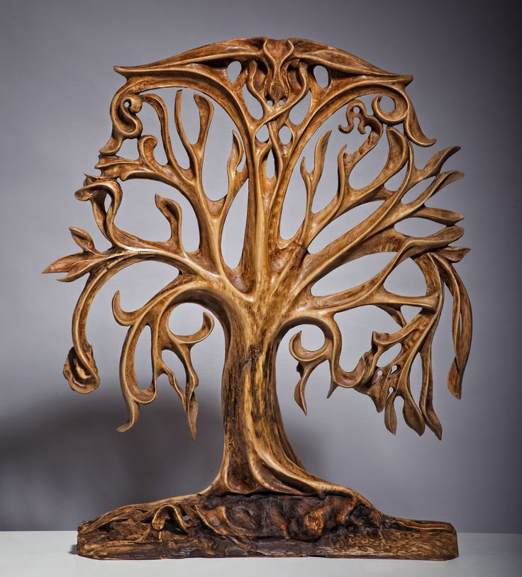 life tree wood sculpture woodworking is beautiful