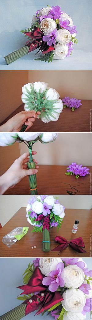 Собираем букет из конфет с ранункулюсами «Белая магия» - Ярмарка Мастеров - ручная работа, handmade