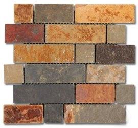 Montego Sela California Gold Slate Tumbled Brick Pattern