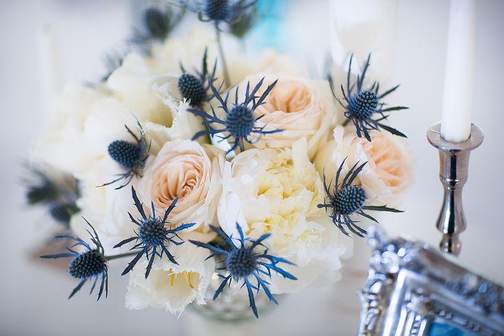 Photographer: Helen Shvaiko Location: Robinson club Minsk, Belarus Decor: Victoria German Blue wedding decor, real wedding, wedding decor ideas