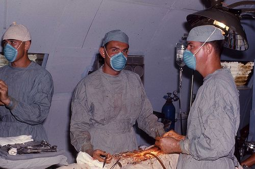 Capt James Hughes, MC operating at the 7th Surgical ...