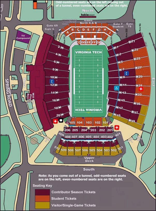 virginia tech football stadium seating chart - Google Search