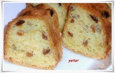 yetur'la lezzet kareleri: üzümlü pastahane keki